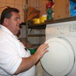 Fleischer und Waschmaschine