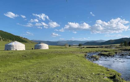 Mongolei Nomaden Jurten