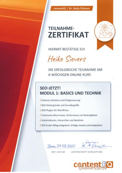 SEo_Workshop-Zertifikat